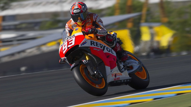 Marc Marquez of the Repsol Honda Team took pole