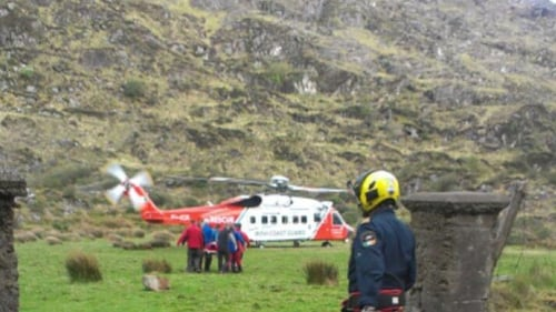 Kerry Mountain Rescue Team rescued the pair with the help of Shannon Coastguard
