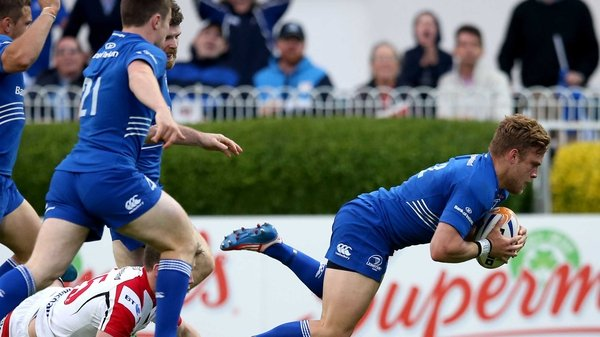 Ian Madigan scored the vital try for Leinster