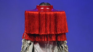 A model presents a creation from the Obscure collection of German designers Inna Stein and Caroline Rohner during the 13th 'Baltic Fashion Award' in Germany