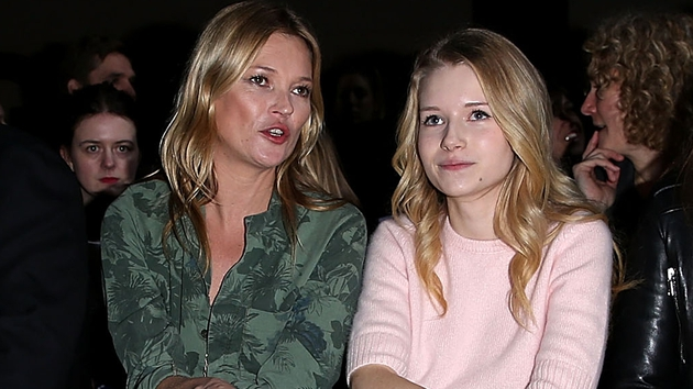 Kate and Lottie attended the Topshop Unique show at London Fashion Week AW14