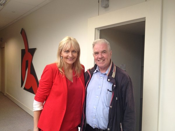 Miriam with Father Peter McVerry