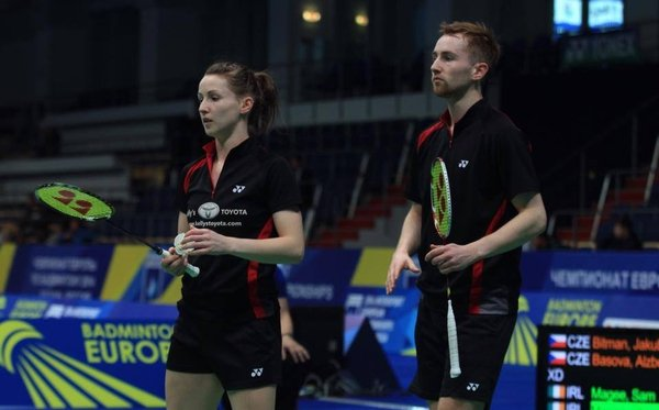 Chloe and Sam Magee won the mixed doubles
