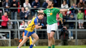 Niall Daly celebrates scoring a point for Roscommon