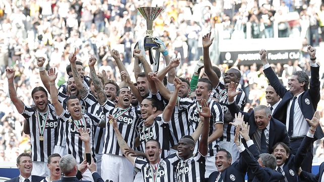 Juventus lifted a third straight Scudetto with record points tally