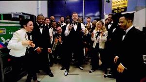 Justin Timberlake accepted his awards via satellite