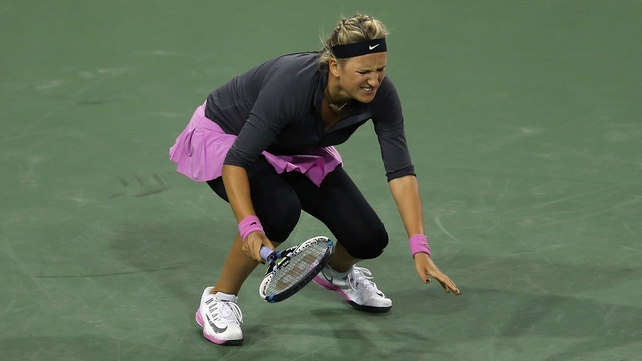 Victoria Azarenka injured her foot competing at Indian Wells last March