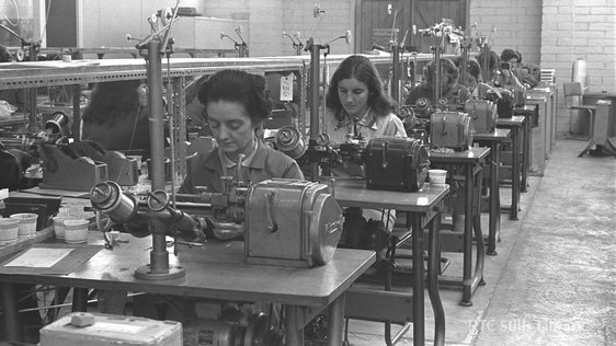 Women workers on the production line at the Telectron electronics factory in Tallaght, Dublin, in 1971
