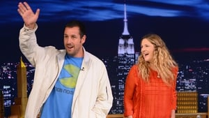 Adam Sandler with Drew Barrymore promoting Blended earlier this year