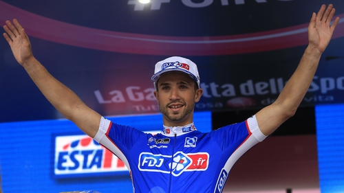 Nacer Bouhanni claimed his third stage victory on this year's Giro