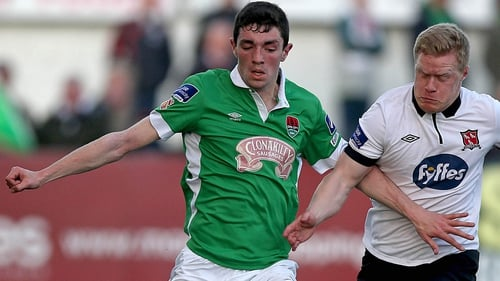 Cork City's Brian Lenihan (L) called up for friendly