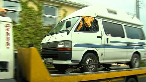 The campervan was removed from the scene today