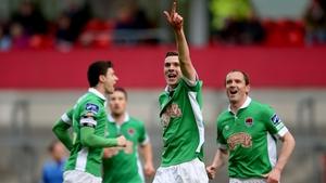 Garry Buckley celebrates Cork's opening goal
