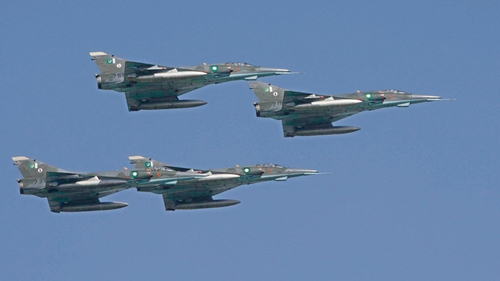 File image of Pakistan's Air Force Mirage fighter jets