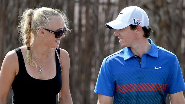 Rory McIlroty and Caroline Wozniacki in happier times together