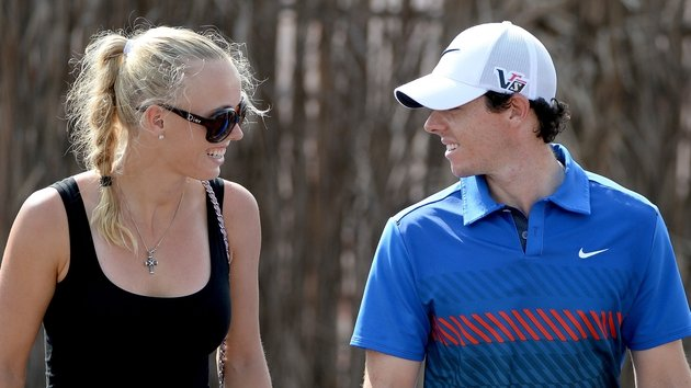 Before they were teed off with each other: Caroline Wozniaki and Rory McIlroy