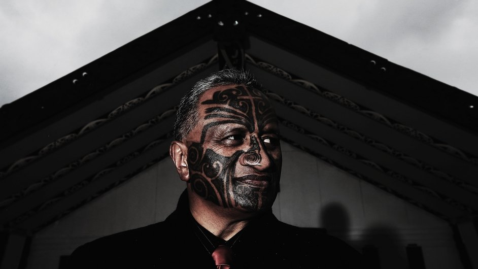 Maori Party MP, Rangi McLean, poses during a portrait shoot at the Manurewa Marae in Auckland, New Zealand