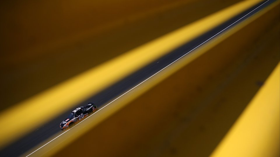 Matt Kenseth practices for the NASCAR Sprint Cup Series Sprint All-Star Race at Charlotte Motor Speedway in Charlotte, North Carolina