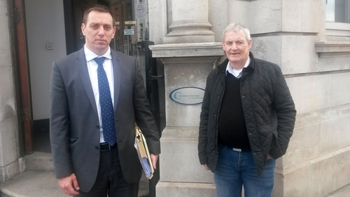 Solicitor Padraig O Muirigh (left) and Jim Rowntree spoke after the hearing
