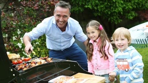 TV chef Kevin Dundon gets the barbeque going