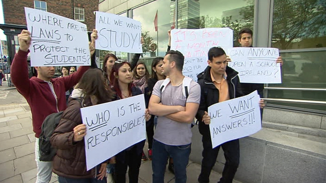 Students protested today to draw attention to the difficulties they are facing