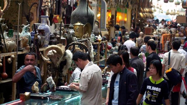 File image of Urumqi Bazha market in Xinjiang province