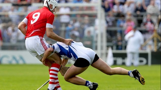 Stephen Molumphy of Waterford gets to grips with Pa Cronin in the 2012 All-Ireland quarter-final