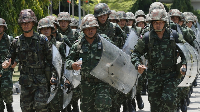 Martial law was declared in Thailand on Tuesday