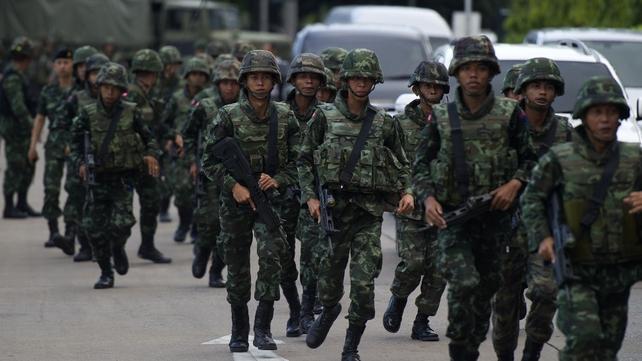 Thai army chief announces military coup