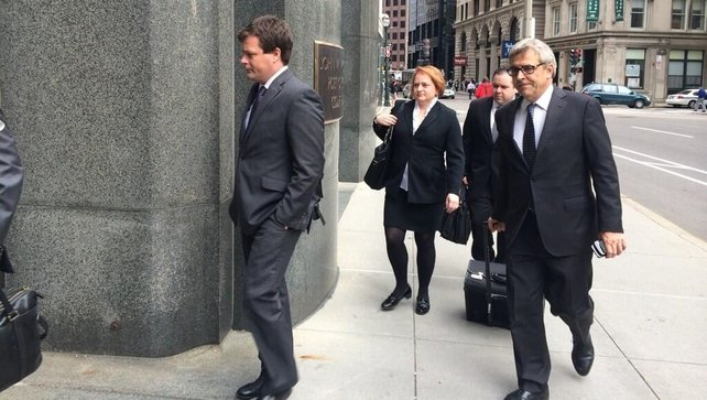 Lawyers for IBRC arriving at the Boston Bankruptcy Court today