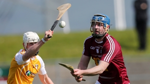 Derek McNicholas (r) scored a goal for Westmeath