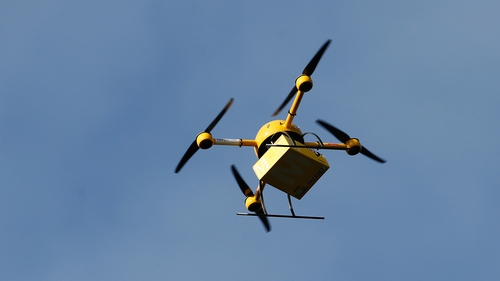 Deutsche Post conducts a test delivery using a drone