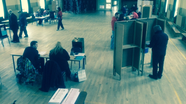 Voters cast their votes in Ennis, Co Clare