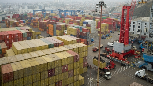 The volume of goods handled at the ports in 2013 was down 2% on the previous year