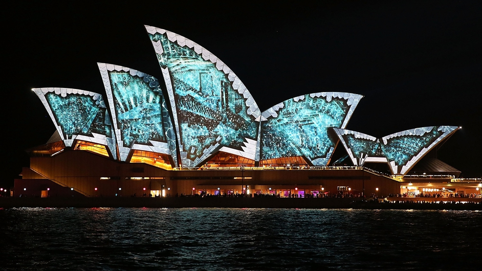 Sydney Opera House lights up as part of the city-wide VIVID Live festival celebrating