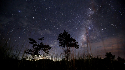 It's estimated that between a couple of hundred and over a thousand meteors could be visible each hour