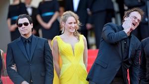 Stars John Travolta and Uma Thurman and Pulp Fiction director Quentin Tarantino
