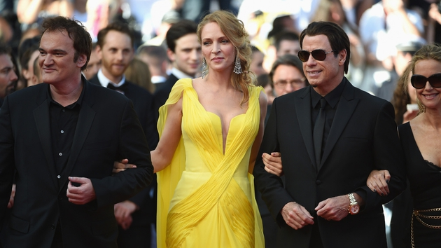 The trio linked arms at the Cannes Film Festival