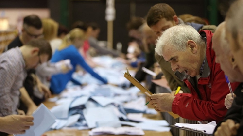 Counting continues at the RDS in Dublin
