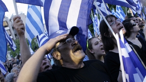 Supporters of the Greek ultra nationalist party Golden Dawn attend a pre-election rally in Athens, Greece