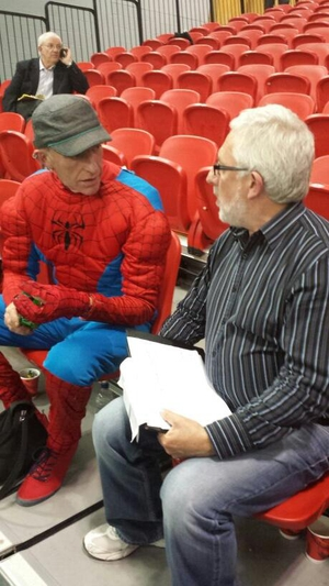 Spiderman paid a visit to the count centre in Letterkenny