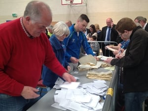 Counting about to get under way in the Wexford centre