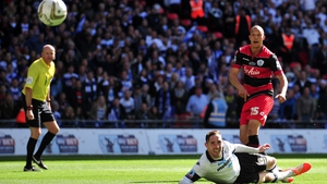 Bobby Zamora scores the goal that clinched promotion for QPR