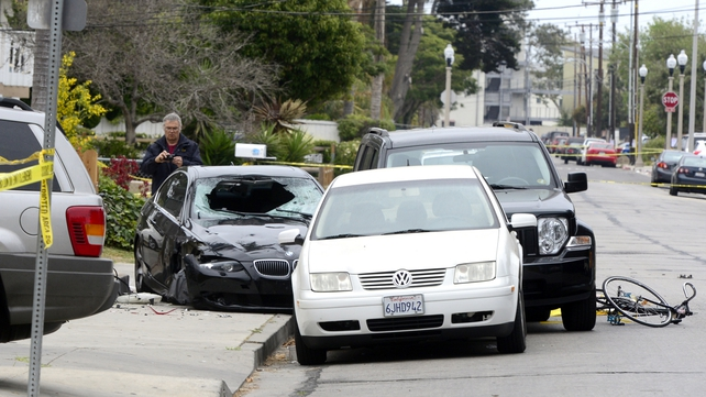 The shooting happened in the town of Isla Vista near the campus of the University of California at Santa Barbara
