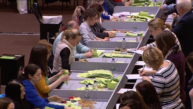 The counting of votes began yesterday