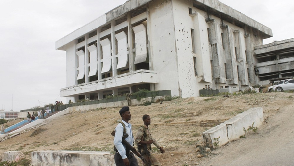 A car bomb exploded close to the parliament building in Mogadishu