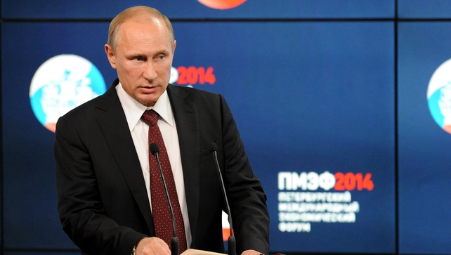 Vladimir Putin's verbal olive branch after months of East-West feuding  came at an economic forum