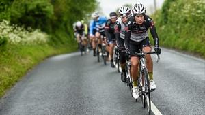 Josef Benetseder of Tirol Cycling Team leads the peloton