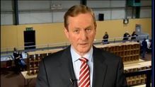 Taoiseach Enda Kenny reacts to today's election result