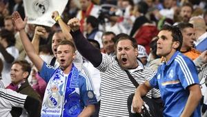 Real Madrid fans roar on their side